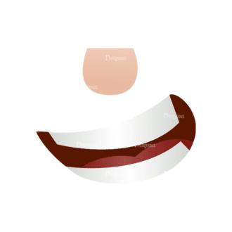 Vector Mascots Business Man Vector Mouth 63 Clip Art - SVG & PNG vector