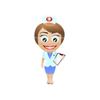 Vector Mascots Nurse Vector Nurse 20 Clip Art - SVG & PNG vector