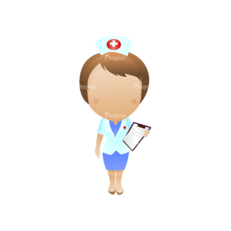 Vector Mascots Nurse Vector Nurse 28 Clip Art - SVG & PNG vector