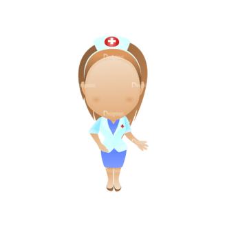 Vector Mascots Nurse Vector Nurse 29 Clip Art - SVG & PNG vector