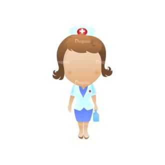 Vector Mascots Nurse Vector Nurse 31 Clip Art - SVG & PNG vector