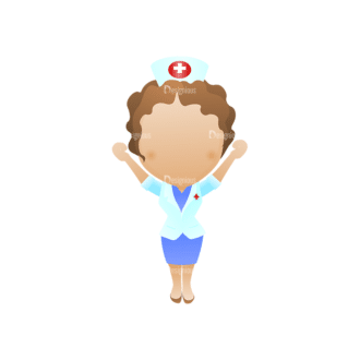 Vector Mascots Nurse Vector Nurse 32 Clip Art - SVG & PNG vector
