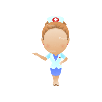 Vector Mascots Nurse Vector Nurse 34 Clip Art - SVG & PNG vector