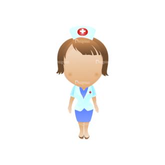 Vector Mascots Nurse Vector Nurse 35 Clip Art - SVG & PNG vector