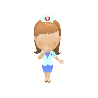 Vector Mascots Nurse Vector Nurse 42 Clip Art - SVG & PNG vector