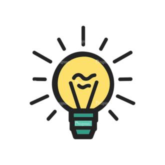 Website Design Doodle Vector Set 6 Vector Bulb Clip Art - SVG & PNG vector