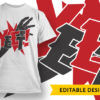 Make Mistakes Stop Faking Perfection T-shirt Designs and Templates vector