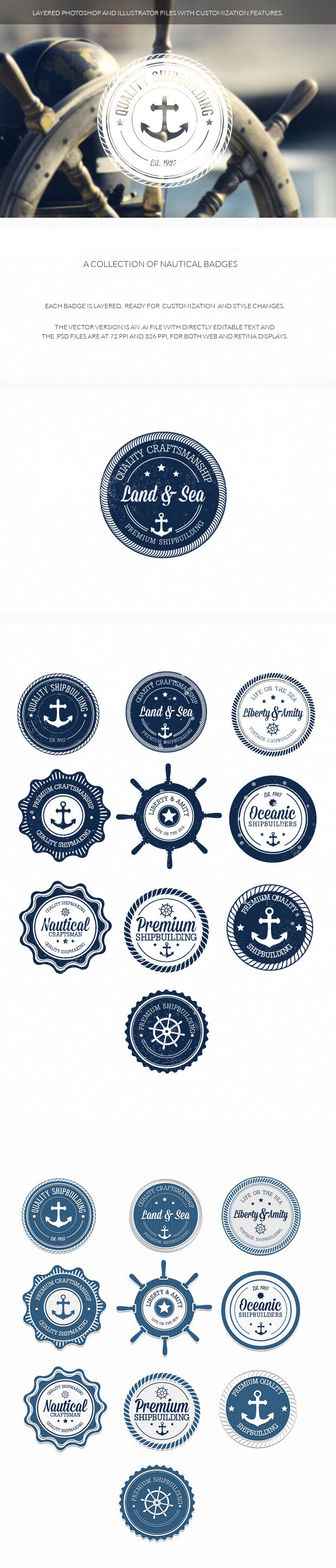 200+ Super Premium Badges nautical