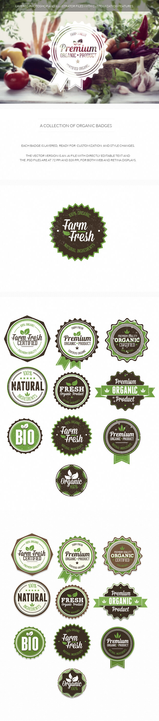200+ Super Premium Badges organic
