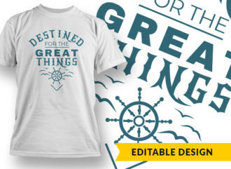 Destined For The Great Things Online Designer Templates vector