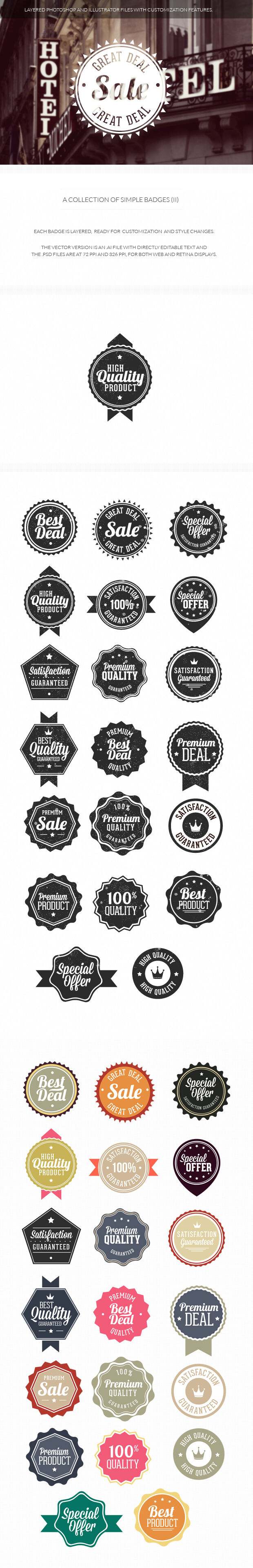 200+ Super Premium Badges simple 2