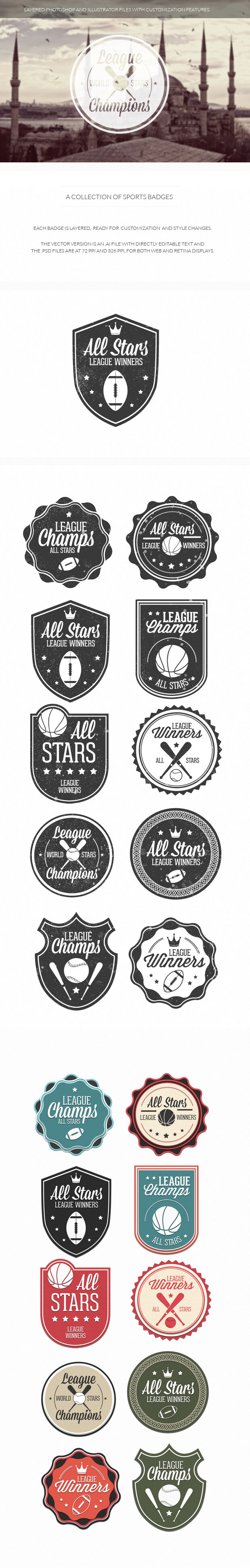 200+ Super Premium Badges sport