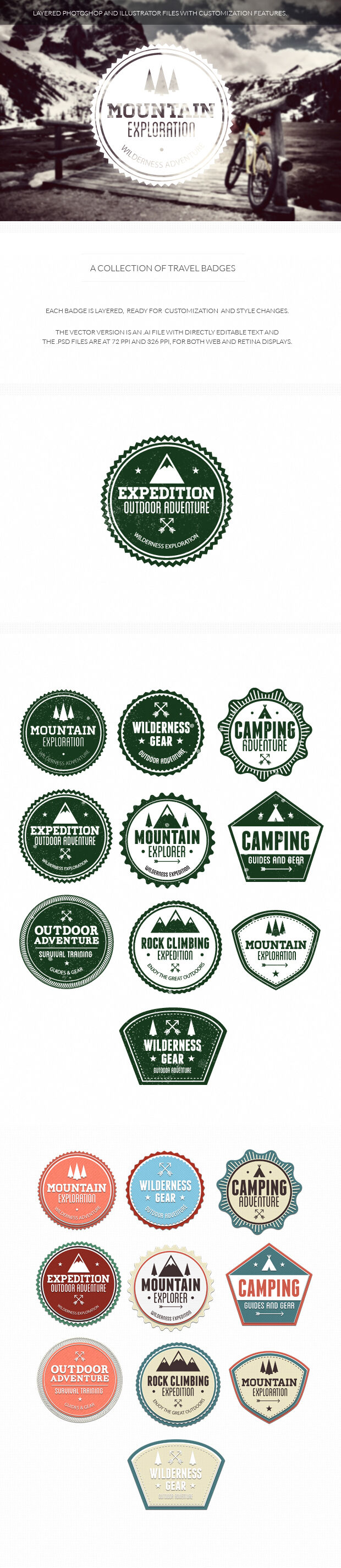 200+ Super Premium Badges travel