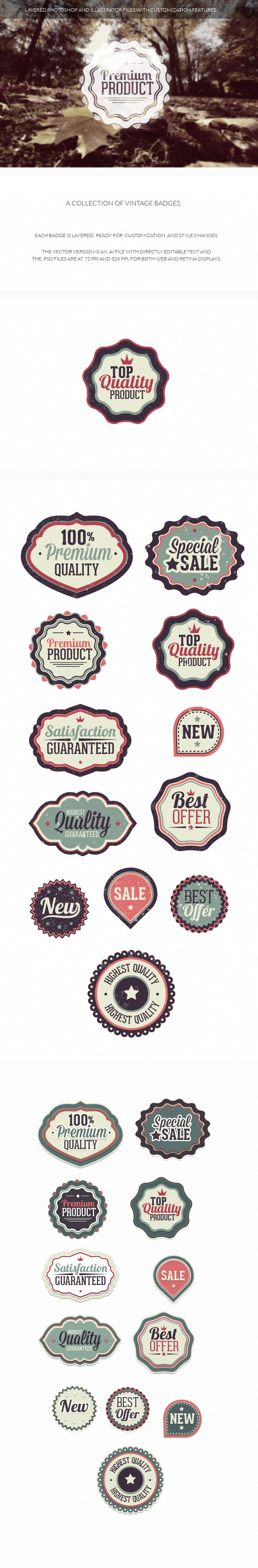 200+ Super Premium Badges vintage